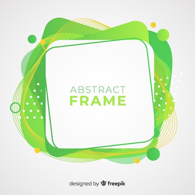 Gebogen kader abstracte achtergrond Gratis Vector