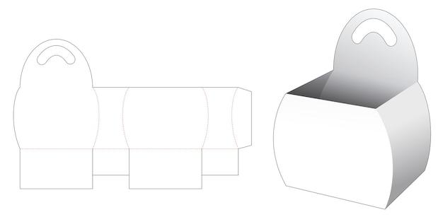 Gebogen zijkom met handvat gestanst sjabloon Premium Vector