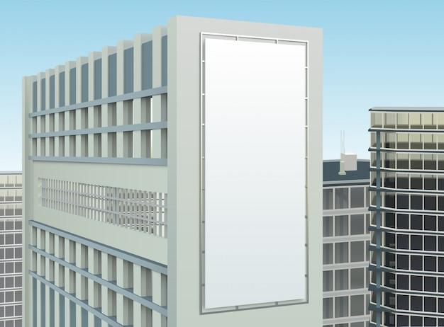 Gebouw cityscape samenstelling van de advertentiesite Gratis Vector