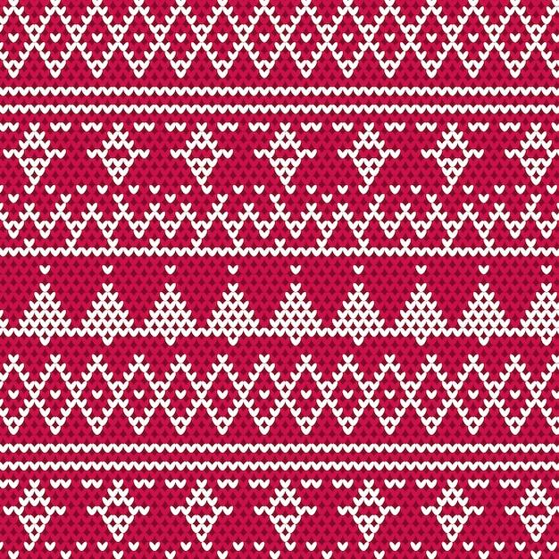 Gebreide Kersttrui.Gebreide Kerst Trui Achtergrond Vector Premium Download