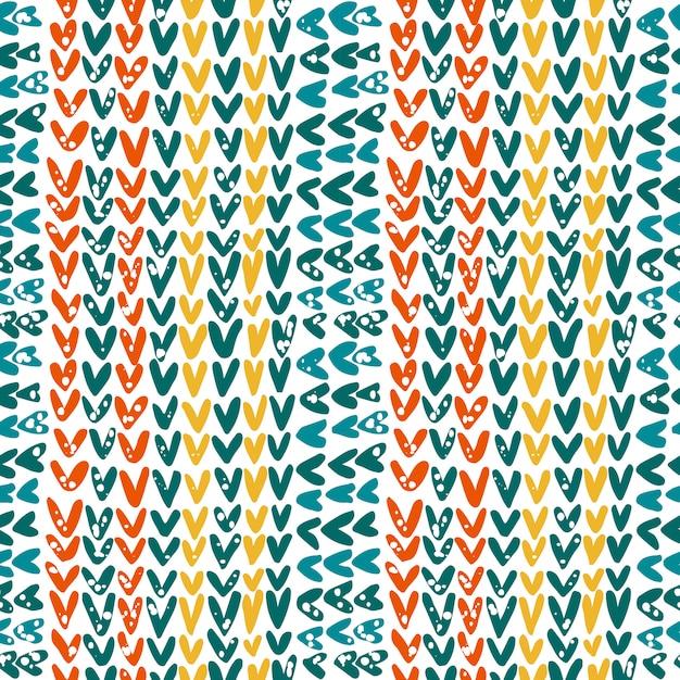 Gebreide textuur in het contrastkleurenschema Premium Vector