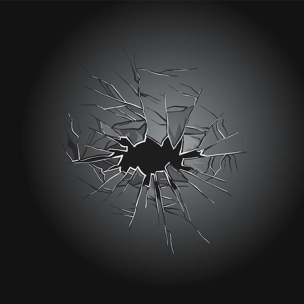 Gebroken glas afbeelding ontwerp Premium Vector