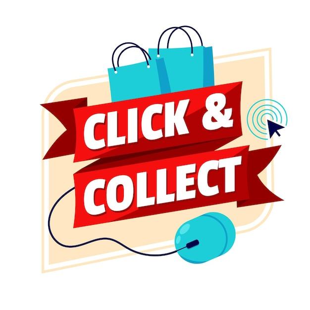 Gedetailleerd klik- en verzamelbord Gratis Vector