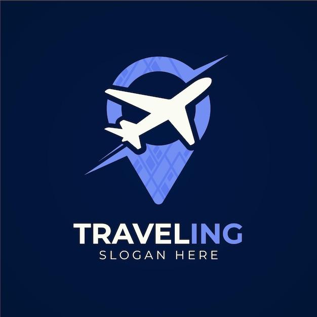 Gedetailleerd reislogo-ontwerp Gratis Vector