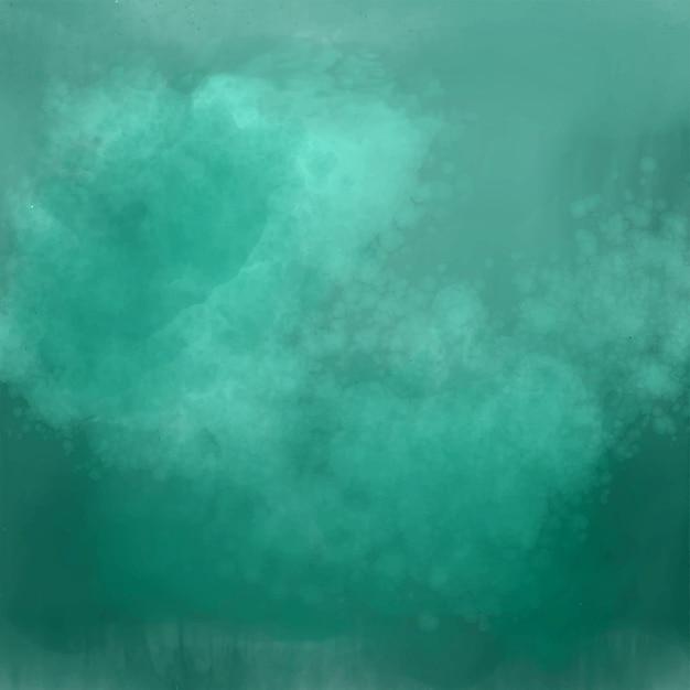 Gedetailleerde groene schaduw aquarel achtergrond Gratis Vector