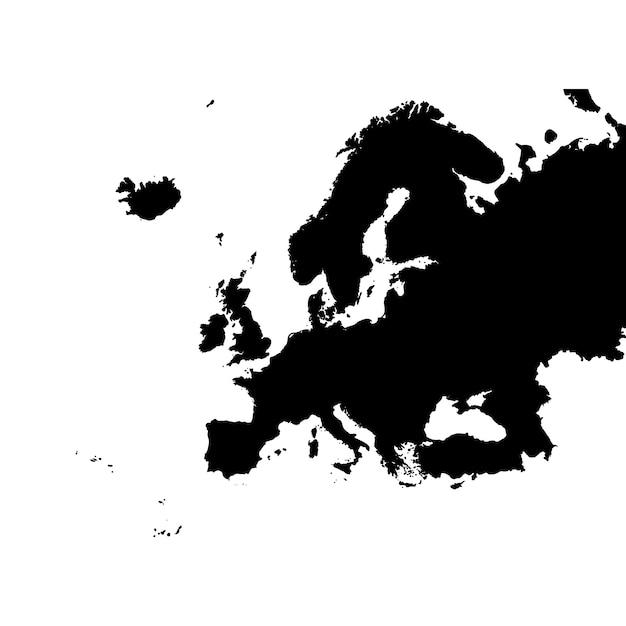 Gedetailleerde kaart van europa Premium Vector