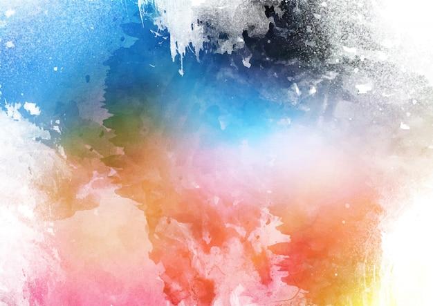 Gedetailleerde kleurrijke aquarel textuur achtergrond Premium Vector