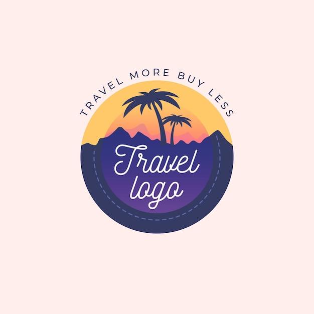 Gedetailleerde reizen logo concept Gratis Vector