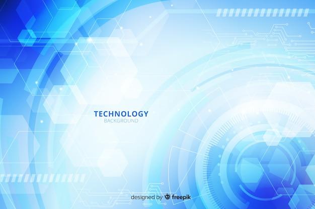 Gedetailleerde technische achtergrond Gratis Vector