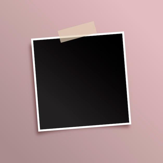 Geef achtergrond weer met zwarte fotolijst Gratis Vector