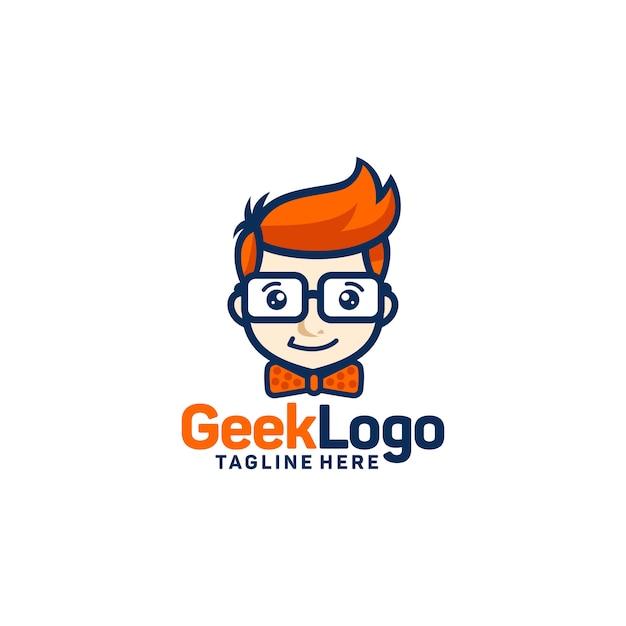 Geek logo ontwerpsjabloon vector Premium Vector