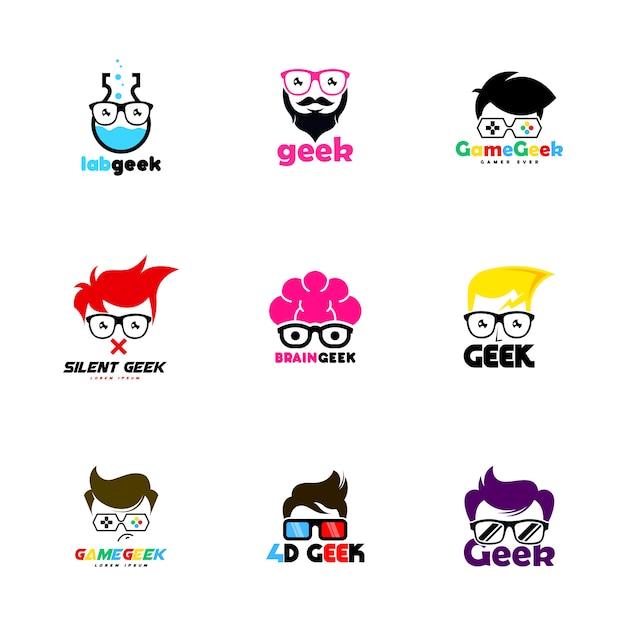 Geek-logo Premium Vector