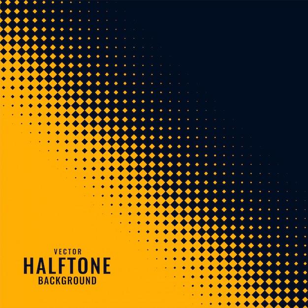 Geel en zwart haltoonpatroon Gratis Vector