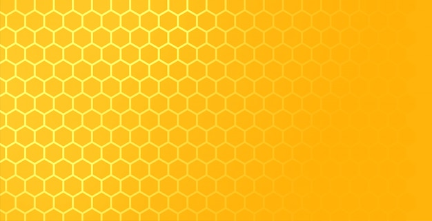 Geel hexagonaal honingraatnetwerkpatroon met tekstruimte Gratis Vector