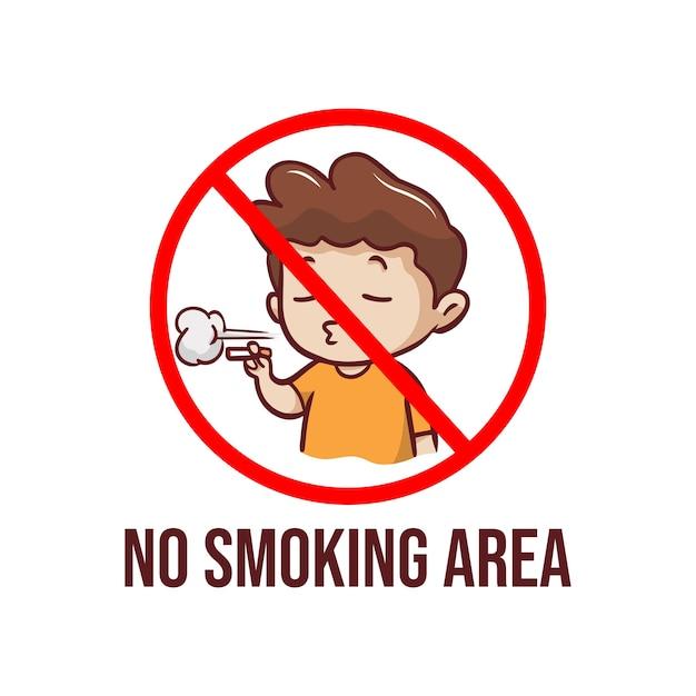 Geen rookruimte illustratie Premium Vector