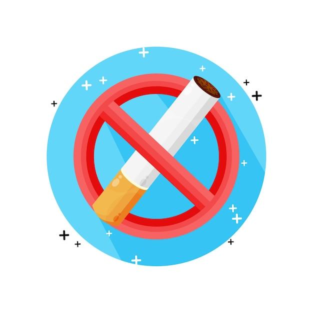 Geen rookvrije pictogram ontwerp Premium Vector
