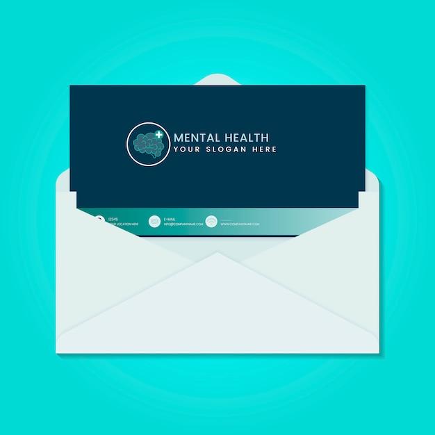 Geestelijke gezondheid advertentiebrochure vector Gratis Vector