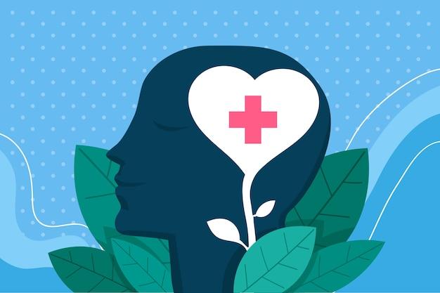 Geestelijke gezondheid awarness concept Gratis Vector