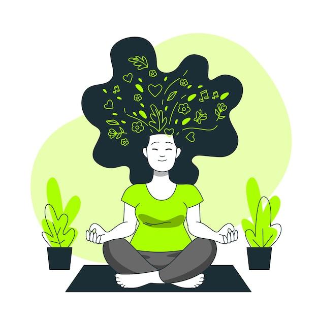 Geestelijke gezondheid concept illustratie Gratis Vector