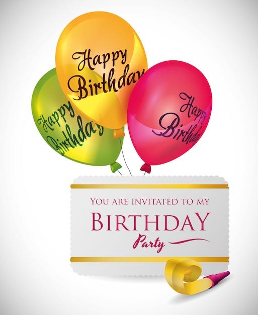 Gefeliciteerd met je verjaardag Premium Vector