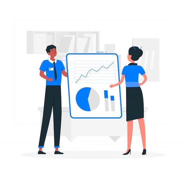 Gegevens informeren illustratie concept Gratis Vector