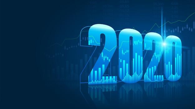 Gegevens nieuwjaar 2020 Premium Vector