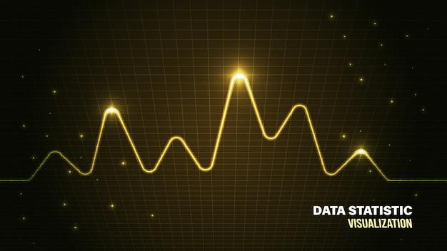 Gegevensanalyse visualisatie achtergrond Premium Vector