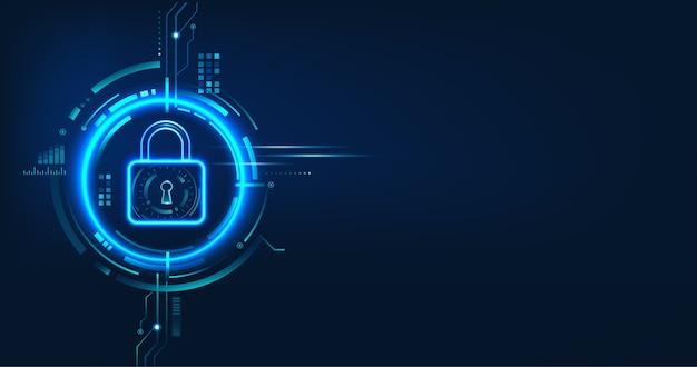 Gegevensbeveiligingsconceptontwerp voor persoonlijke privacy, gegevensbescherming en cyberbeveiliging. Premium Vector