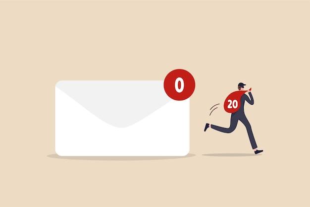 Gegevensprivacy, persoonlijk e-mail vertrouwelijk concept. Premium Vector