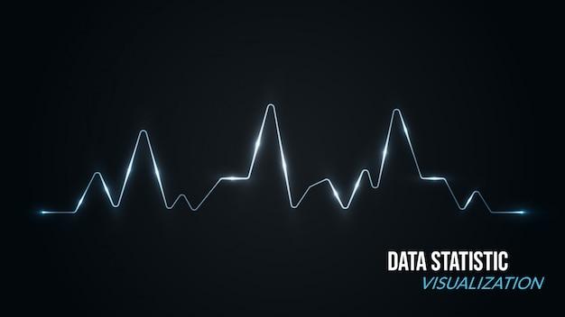 Gegevensvisualisatie achtergrond met spectrum style Premium Vector