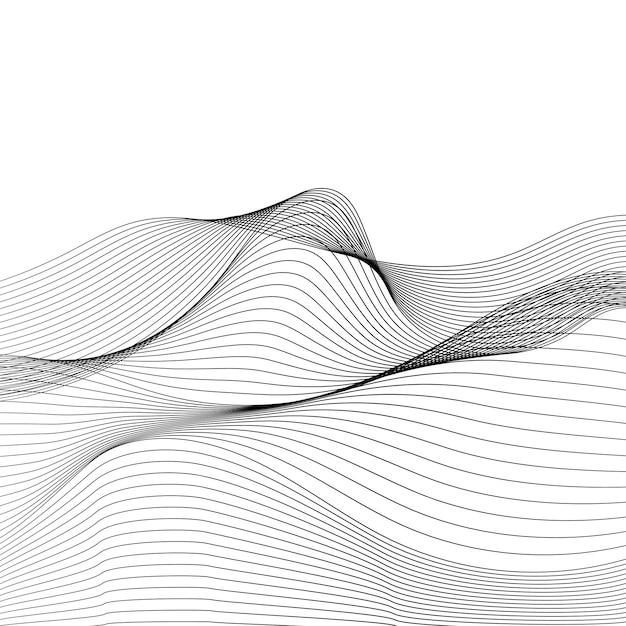Gegevensvisualisatie dynamische golfpatroonvector Gratis Vector