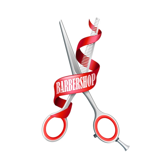 Geïsoleerde barbershop-samenstelling Gratis Vector