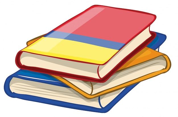 Geïsoleerde bundel boeken Gratis Vector