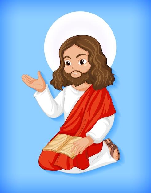 Geïsoleerde jezus-karakter Premium Vector