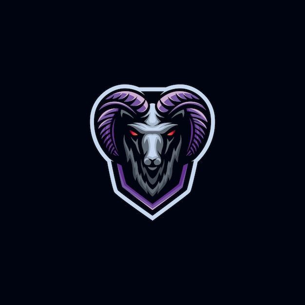 Geit sport logo sjabloon Premium Vector