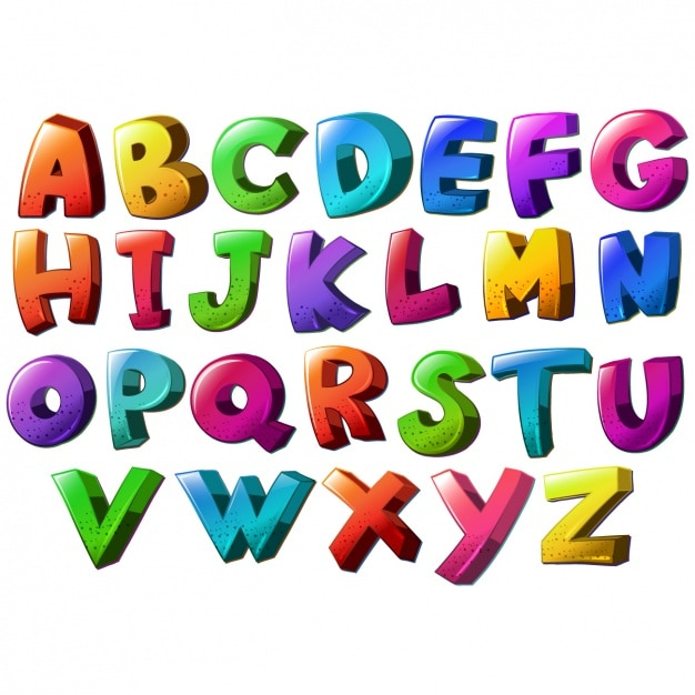 Gekleurd Alfabet Ontwerp_979028 on Bubble Writing Abc