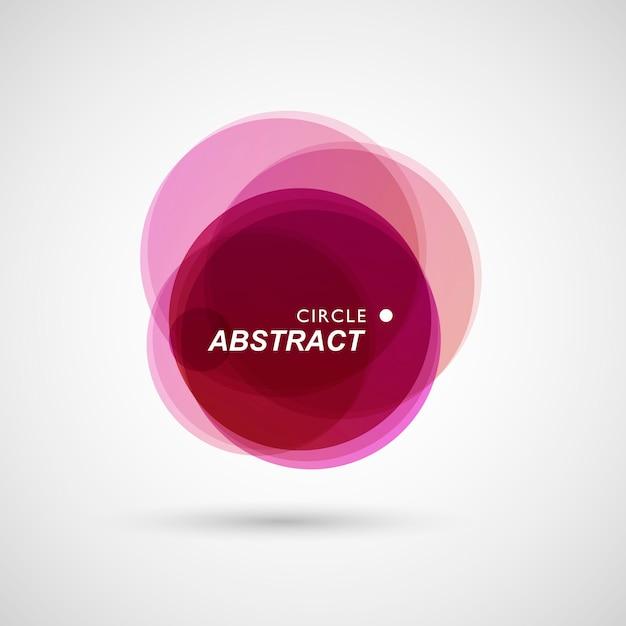 Gekleurde cirkels die op abstracte samenstellingsachtergrond worden verzameld Premium Vector