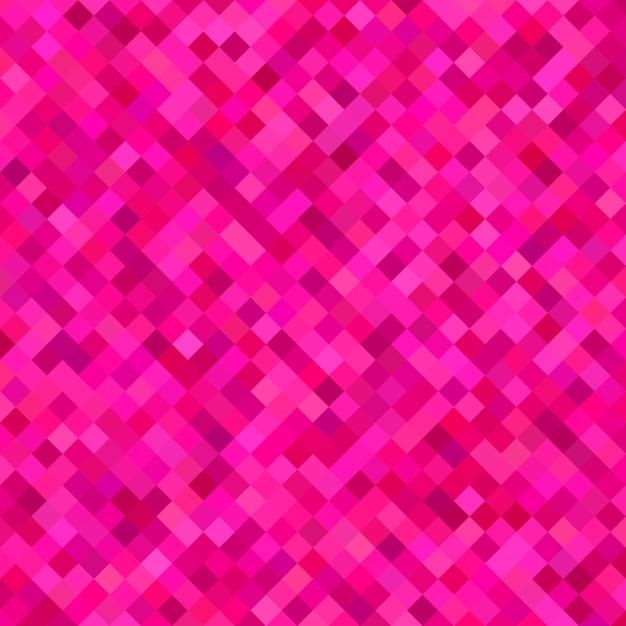 Gekleurde diagonale vierkante patroon achtergrond - vectorillustratie uit vierkanten in roze tinten Premium Vector