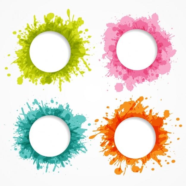 Gekleurde frames-collectie Gratis Vector