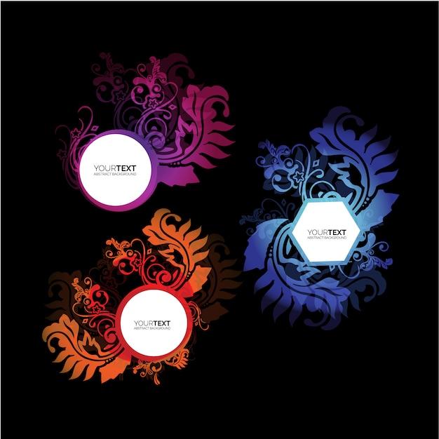 Gekleurde frames collectio Gratis Vector
