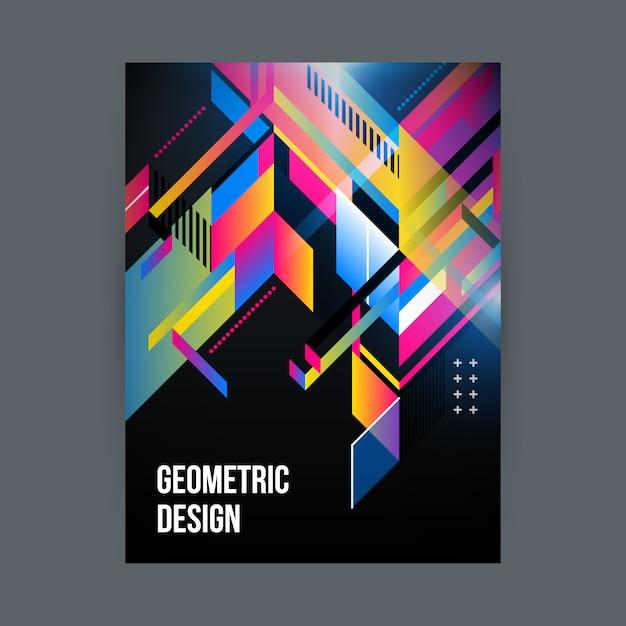 Gekleurde geometrisch ontwerp Gratis Vector