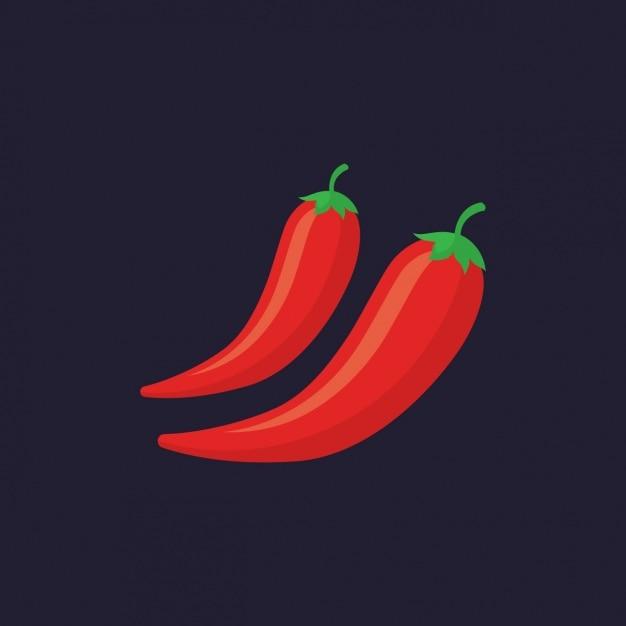 Gekleurde pepers ontwerp Gratis Vector