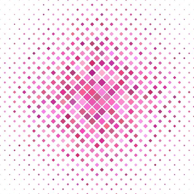 Gekleurde vierkant patroon achtergrond - geometrische vector grafisch van diagonale vierkanten in roze tinten Gratis Vector