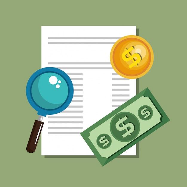 Geld besparen set pictogrammen Gratis Vector