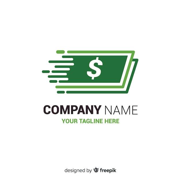 Geld concept logo sjabloon Gratis Vector