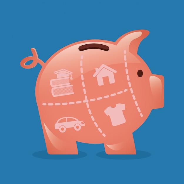 Geld eenvoudig element Gratis Vector