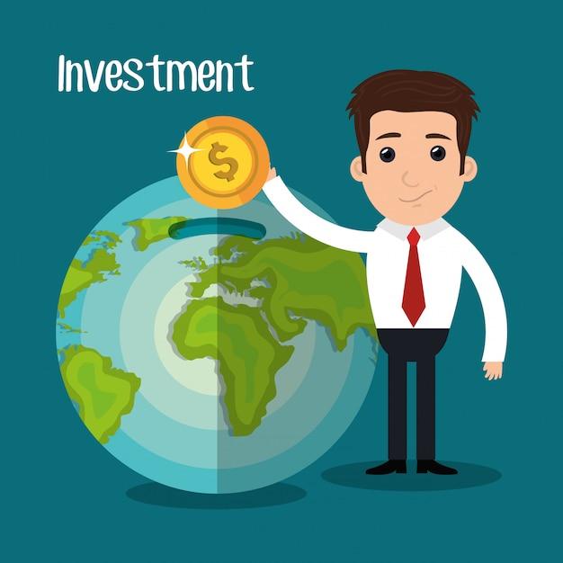 Geld en zakelijke investeringen Gratis Vector