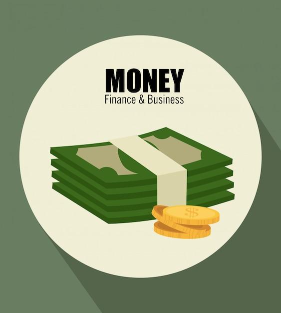Geld over groen Gratis Vector