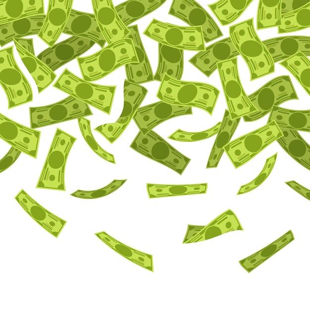 Geld regen illustratie Premium Vector