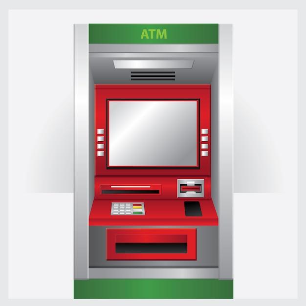 Geldautomaat. vector illustratie automatische teller machine Premium Vector